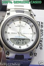 AW-80D-7A White Japan Movt Genuine Casio Watch 10-Year Battery Life Steel Band