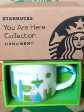 "NEW Starbucks 2013 SEATTLE ""You Are Here"" YAH XMAS ORNAMENT 2 oz mini-mug"