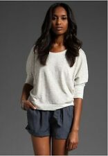 JOE's JEANS ROSIE PULLOVER KNIT TOP, Heather Grey, Size M, MSRP $88.00