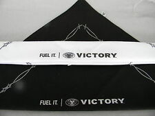 """2 VICTORY Motorcycles BANDANNAS new """"FUEL IT"""" w/ barbed wire graphics  blk,white"""