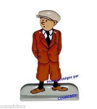 Figurine TINTIN costume marron statuette métal figure figuren figurilla statue