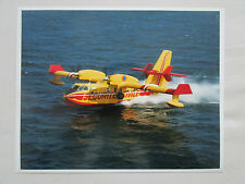PHOTO PRESSE AVION CANADAIR CL-415 AMPHIBIAN FIRE FORET SECURITE CIVILE PELICAN