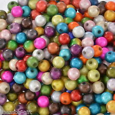 "500 Mixed Miracle Acrylic Round Spacer Beads 6mm(1/4"")"