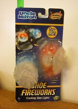 SHOE FIREWORKS Uncle Milton flashing shoe lights NWT kids lightshow