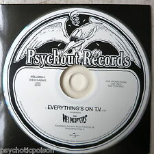 HELLACOPTERS ‎– Everything's On T.V.  Promo CD-Single  Psychout HELLCDS-1