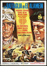 LA BATTAGLIA DI EL ALAMEIN MANIFESTO CINEMA FILM WAR DESERT TANK MOVIE POSTER 2F