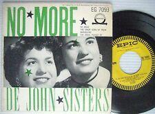De JOHN SISTERS rare 50's 4 song 45 EP PS No More Crazy Song of India + 2  w821