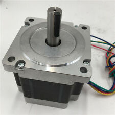 Nema34 2ph Stepper Motor Hybrid with Keyway 4-lead 3Nm 4A L66mm CNC Router
