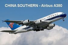 SOUVENIR FRIDGE MAGNET of an AIRBUS A380 - CHINA SOUTHERN