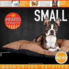 "K&H Thermo-Cushion Pet Bed Small Chocolate Brown 19""x 24"" KH3005 Heated Dog Bed"