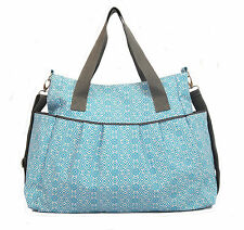 The Stratus Diaper Bag by White Elm - Blue - Coated Canvas Baby Nappy Mommy Tote