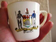 Molto raro da collezione vintage FLORENTINE Crested Dog Ware piccole Gilded TAZZA Sydney