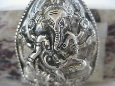 "Sterling Silver Gau Locket ~ Elephant ""hidden box"" luck pendant, Ganesha"