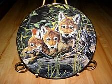 """""""Safety In Numbers"""" BE MY BABY Baby Wolf Cubs By Audrey Casey Bradex Plate"""