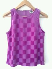 BNWT RIVER ISLAND CHELSEA GIRL LADIES CHECK TOP PURPLE SIZE10 RRP £22
