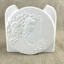 Art Deco Vase Bisque Parian Porcelain German Kaiser White 1930s Style Vintage