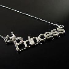 Silver Crystal Princess Necklace