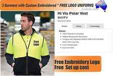3 Custom HiVis Polar VEST  wirh Your Embroidered * FREE YOUR  LOGO UNIFORMS *