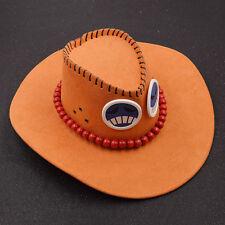 Anime One Piece Cowboy Hut Cosplay Kostüm Western Texas Portgas D Ace Geschenk