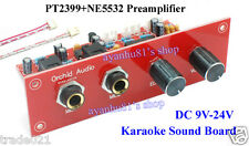 12V PT2399+NE5532 Preamplifier Microphone Amplifier Karaoke Sound Board + Panel