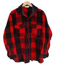 "Vintage Wool CPO Shirt Woolrich Overshirt Lumberjack - L 42"" (25798)"
