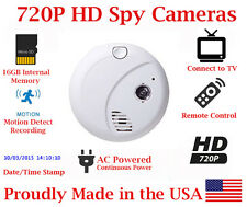 SecureGuard 720P HD Smoke Detector Spy Camera Nanny Cam