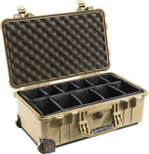 Desert Tan Pelican 1510 Case 1514 with Padded dividers includes Free nameplate