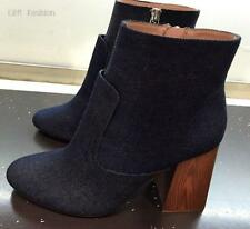 ZARA DENIM HIGH HEELED ANKLE BOOTS SIZE UK 6 EUR 39 REF: 7111 001