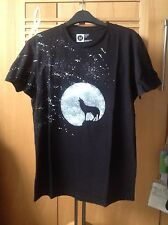 Rock, Goth, Punk, Wolf Hand Spray Painted T Shirt