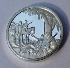 Franklin Mint Sterling Silver Mini-Ingot: 1836 Texas Wins Independence