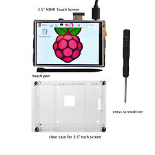 "3.5"" HDMI Touch Screen LCD Display+clear case for Raspberry Pi 2 3 1080P"