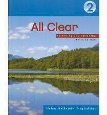 All Clear 2: Listening and Speaking by Helen Kalkstein Fragiadakis Paperback Boo