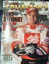 Tony Stewart autographed vintage Nascar magazine. Rare item. Signed.