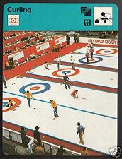 CURLING Focus on Sports Game History Rules Photo 1977 SPORTSCASTER CARD 08-12A