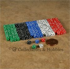 NEW 5mm 200 Opaque Mini Dice Set RPG Game Miniature 3/16 inch Tiny D6 - 5 Colors