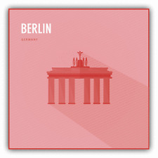 "Brandenburg Gate Berlin Germany Travel Car Bumper Sticker Decal 5"" x 5"""