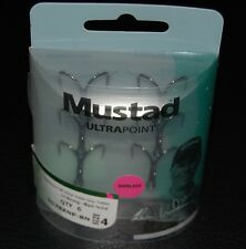 6 Mustad TG78XNPBN-04 KVD Elite Triple Grip Size 4 Barbless Treble Hooks