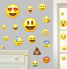 Emojis pack de 22-wall art stickers emoticone funny emoji visages chambre decals