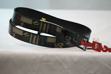 QUIKSILVER BLACK MULTI-COLOR GRAPHIC BUCKLE -BELT size Medium/34