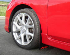 Rallyflapz 4mm PVC Mudflaps Mazda 3 MPS (2007   13) Black with MPS Logo in Red