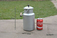 Vintage old aluminium milk churn milk can milkchurn milk pot / 2L - FREE POSTAGE