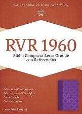 RVR 1960 Biblia Compacta Letra Grande con Referencias, Violeta con Plateado...