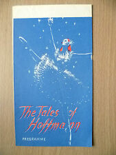 Ballet Programme- THE TALES OF HOFFMANN