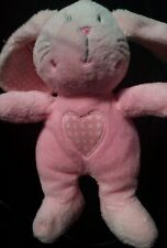 Next pink BUNNY RABBIT COMFORTER cuddly  soft toy lapin heart DOUDOU uC