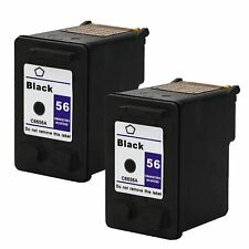 2PKs HP 56 C6656A Black Ink Cartridge for Deskjet 5145 5150v 5151 5650 5652 9650