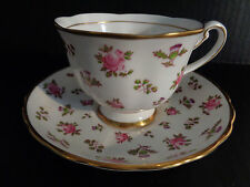 Royal Chelsea  BONE CHINA CHINTZ TEA CUP & SAUCER Britannia ENGLAND Hand Painted