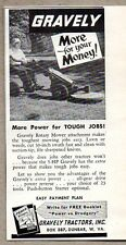 1956 Print Ad Gravely Tractors Rotary Mower Attachment Dunbar,WV