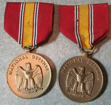 Lot of 2 Vintage National Defense US Army Medals