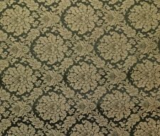 "BURTON HUNTER GREEN #48502 FLORAL WOVEN JACQUARD FABRIC BY THE YARD 58""W"