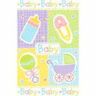 DELUXE PREMIUM Unisex Baby Shower Party Tablecover/Baby Shower Party Supplies